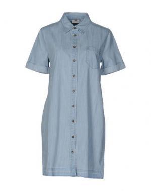 Короткое платье AG ADRIANO GOLDSCHMIED. Цвет: синий