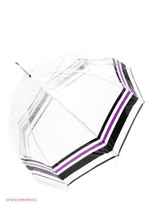 Зонт Isotoner. Цвет: прозрачный, фиолетовый
