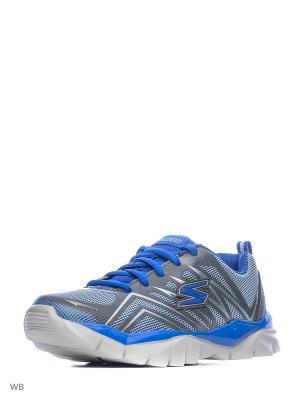 Кроссовки SKECHERS. Цвет: синий, лазурный