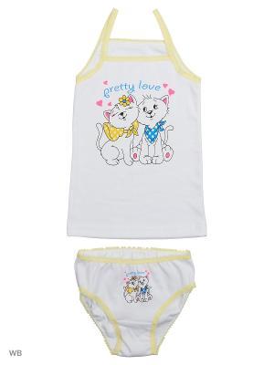 Комплект белья Babycollection. Цвет: желтый