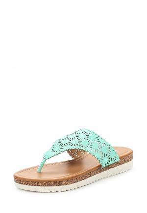 Шлепанцы Sweet Shoes. Цвет: бирюзовый