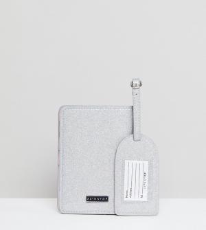 Skinnydip Набор с обложкой для паспорта и багажной биркой FUCK IT. Цвет: мульти