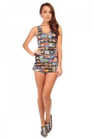 Комбинезон для фитнеса женский  Touch Dress Multi CajuBrasil. Цвет: мультиколор
