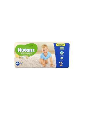Подгузники Ultra Comfort Размер 4+ 10-16кг 60шт для мальчиков HUGGIES. Цвет: голубой, синий