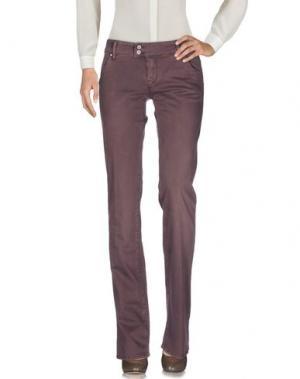 Повседневные брюки RA-RE. Цвет: баклажанный