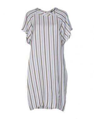 Короткое платье NEW YORK INDUSTRIE. Цвет: бежевый