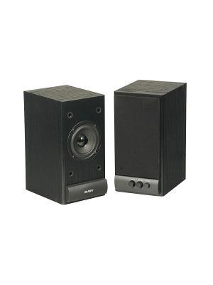 Колонки Sven SPS-609 2.0 черный 10Вт. Цвет: черный