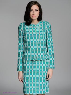 Жакет LUIGI FERRO. Цвет: зеленый, светло-бежевый