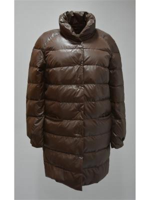 Пальто Bos Bison. Цвет: коричневый
