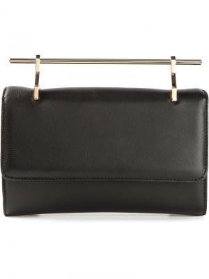 Маленькая сумка с металлической ручкой M2malletier. Цвет: чёрный