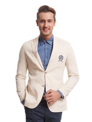 Пиджак U.S. Polo Assn.. Цвет: бежевый