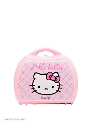 Мини-кухня в чемоданчике Hello Kitty Smoby. Цвет: розовый