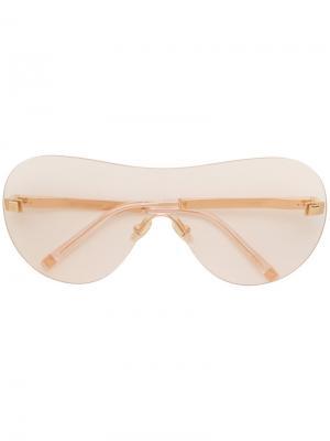 Солнцезащитные очки с оправой авиатор Boucheron. Цвет: телесный