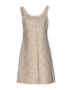 Короткое платье AXARA PARIS. Цвет: бежевый