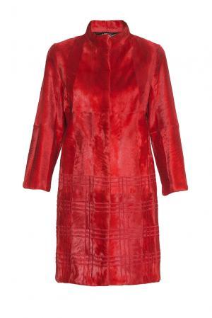 Шуба из меха ягненка 181996 Helen Yarmak. Цвет: красный