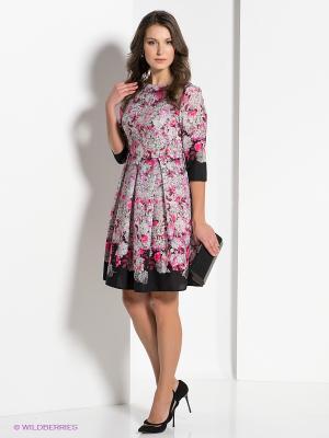 Платье AKIMBO. Цвет: розовый, черный, серый