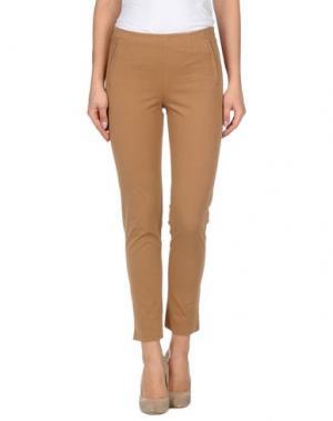 Повседневные брюки KILTIE. Цвет: верблюжий