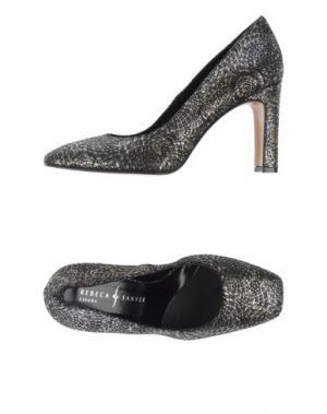 Туфли REBECA SANVER. Цвет: стальной серый