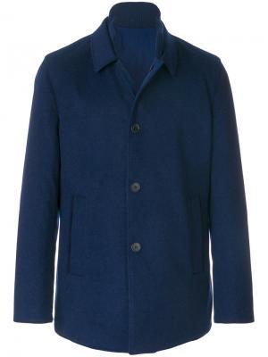 Пальто кроя слим с застежкой на пуговицы Loro Piana. Цвет: синий