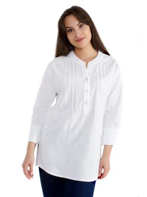 Рубашка OLBE. Цвет: белый