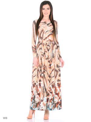Длинное платье Абрикосовый бисквит ANASTASIA PETROVA