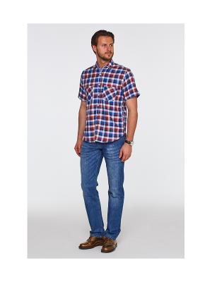 Рубашка Westrenger. Цвет: синий, бордовый