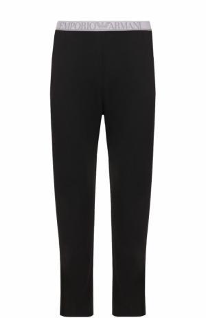 Домашние брюки из вискозы Emporio Armani. Цвет: черный