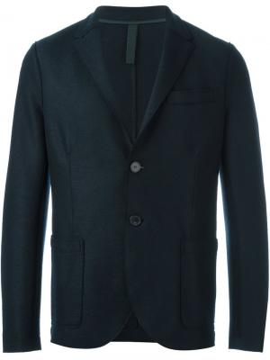 Пиджак на две пуговицы Harris Wharf London. Цвет: синий