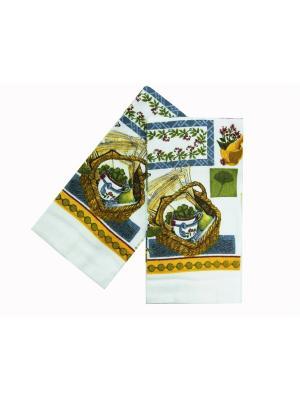 Комплект полотенец ZLATA KORUNKA. Цвет: белый, синий