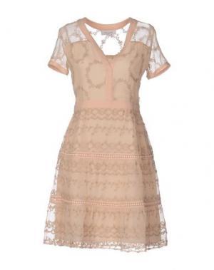 Короткое платье PAUL & JOE. Цвет: песочный