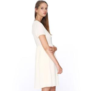 Платье с короткими рукавами расклешенного покроя , Dress Cruz PEPALOVES. Цвет: кремовый