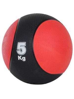 Медбол, 5 кг Start Up. Цвет: черный, красный