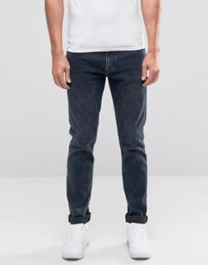 Weekday Синие джинсы скинни Friday. Цвет: синий