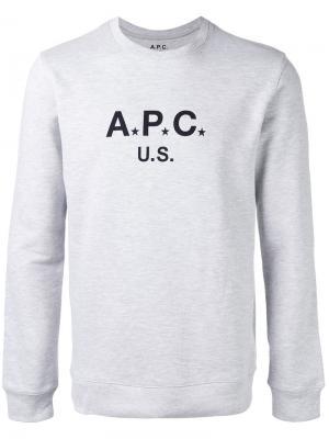 Logo sweatshirt A.P.C.. Цвет: серый