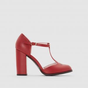 Туфли с ремешком на высоком каблуке MADEMOISELLE R. Цвет: бордовый,черный