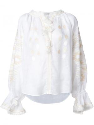 Embroidered peasant blouse Vita Kin. Цвет: белый