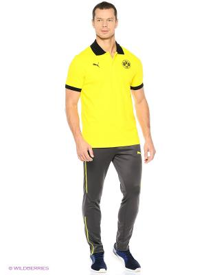 Футболка-поло BVB Badge Polo Puma. Цвет: желтый