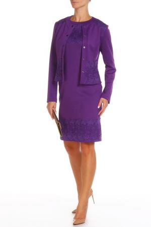 Костюм: жакет, платье Adzhedo. Цвет: лиловый