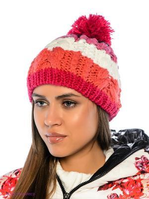 Шапка Imojo. Цвет: розовый, белый, фиолетовый, коралловый