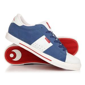 Кеды кроссовки низкие  Serve V Navy/White/Red Osiris. Цвет: синий,белый,красный