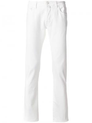 Узкие брюки Jacob Cohen. Цвет: белый