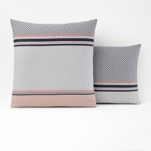 Наволочка с рисунком из 100% хлопка, NAYMA La Redoute Interieurs. Цвет: серый/розовая пудра