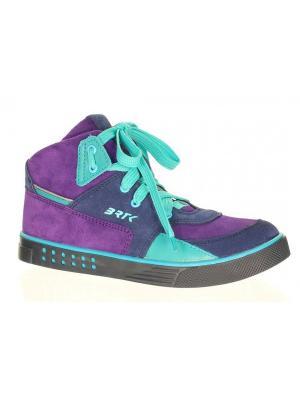 Ботинки Bartek. Цвет: голубой, фиолетовый
