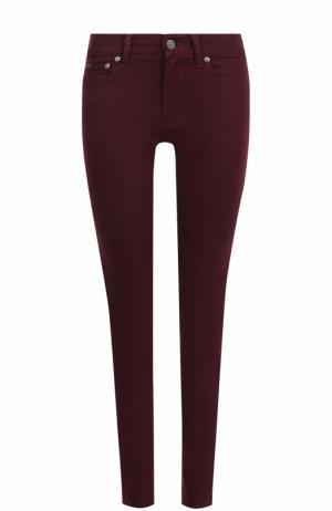 Однотонные джинсы-скинни Polo Ralph Lauren. Цвет: бордовый