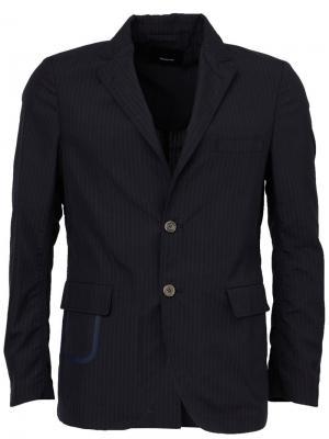 Пиджак с застежкой на две пуговицы 08Sircus. Цвет: синий