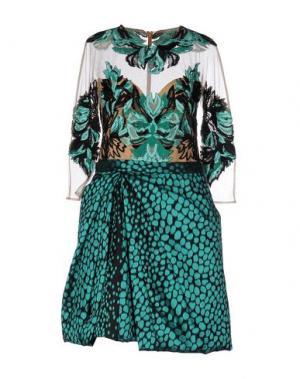 Короткое платье ZUHAIR MURAD. Цвет: изумрудно-зеленый