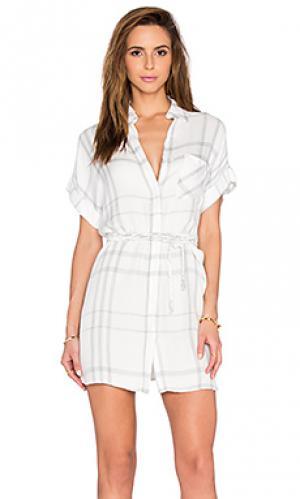 Платье на пуговицах savannah Rails. Цвет: белый
