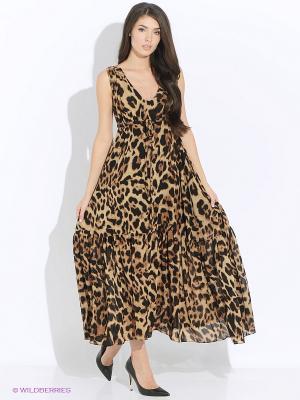 Платье MONOROOM. Цвет: коричневый