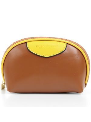 Косметичка Fiato Dream. Цвет: желтый, светло-коричневый