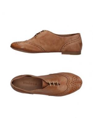 Обувь на шнурках KUDETÀ. Цвет: верблюжий